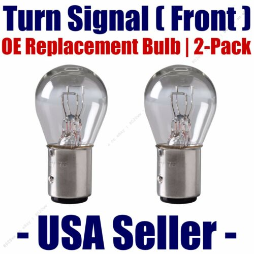 Fits Listed Pontiac Vehicles 1157 Front Turn Signal//Blinker Light Bulb 2pk