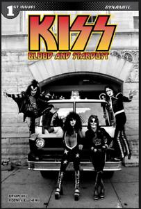 Kiss-Blood-Stardust-1-DYNAMITE-COVER-G-BLACK-WHITE-VARIANT-1ST-PRINT