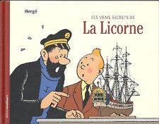 Tintin Hergé les vrais secrets de la licorne / the unicorn noir & blanc