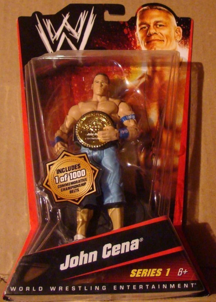MATTEL WWE John Cena Nº 110 de 1000 Ceinture Chase en main