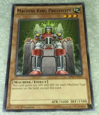 1st Edition - Rare Near Mint BP03-EN019 3 x Machine King Prototype