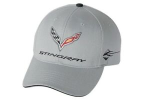 C7-Corvette-Stingray-Gray-Cotton-Hat