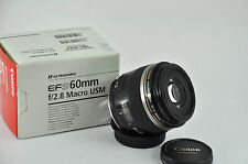 CANON EF-S 60mm 2.8 MACRO USM LENS - 60 mm f/2.8 ULTRASONIC boxed