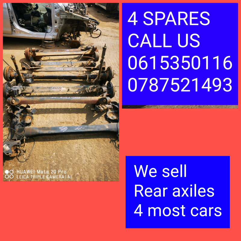 We sell rear axels on most cars