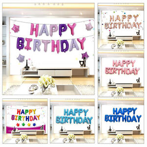 Image Is Loading 16 039 Happy Birthday Foil Balloons Set