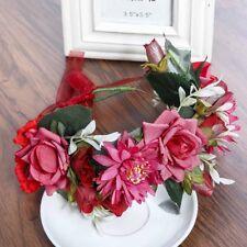 Garland Boho Large Flower Crown Floral Women Hairband Headband Party Wedding 7cd3ccd61c2