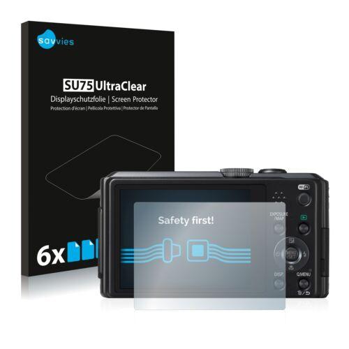 6x protector de pantalla para Panasonic Lumix dmc-fz72 lámina protectora claramente