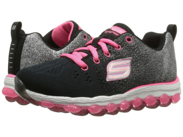 Skechers Skech Air Ultra glitterbeam Blackneon Pink Kids Girls SNEAKERS Size 1