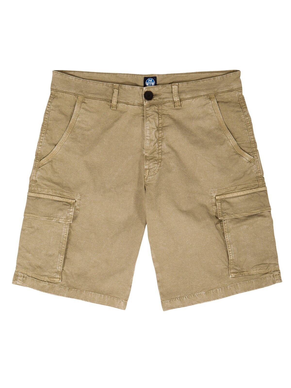 Bermuda Bermuda Bermuda da uomo beige North sails Lowell cargo shorts tasconi pantaloncino corto e13d91