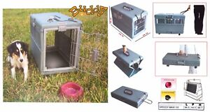 Cage de transport pliable pour grand chien Transport Xl 96 X 64 68 (h) Cm