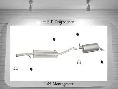 MONTAGESATZ VW Sharan 1.9TDi MITTELSCHALLDÄMPFER AUSPUFF MITTELTOPF