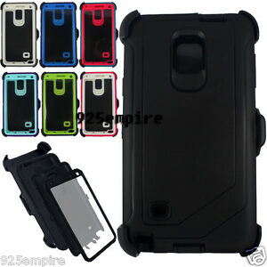 cheap for discount c99d5 8b27e Details about For Samsung Galaxy Note 4 Case Cover (Belt Clip Fits OtterBox  Defender Series)