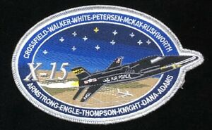 X-15 TEST PILOT COMMEM.PATCH: CROSSFIELD ARMSTRONG ENGLE DANA ADAMS WALKER PLUS