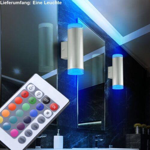 RGB LED Wandlampe Arbeitszimmer Schalter Beleuchtung Dimmer Leuchte HxT 21x9 cm