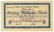 NOTGELD - AACHEN - 50 MILLIONEN MARK 20.7.1923 (251)