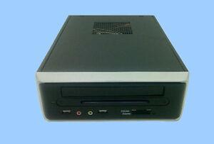 New fanless mini itx pc case memory card reader 65w dc for Case itx fanless