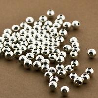 Sterling Silver Beads. 4mm Sterling Silver Beads. Wholesale Seamless Beads.