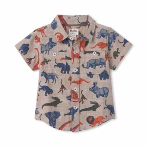 Hatley Baby Cotton Shirt Jungle Safari