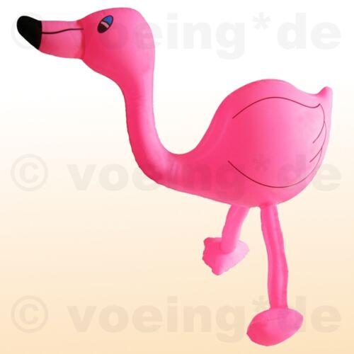 2 Stück Aufblasbarer Flamingo 60 cm Deko zu Karneval Fasching Party Geburtstag