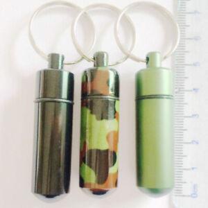 1-Stueck-Micno-NEU-Metallic-gruen-tarnfarben-Alu-Metall-Micro-Nano-Geocaching