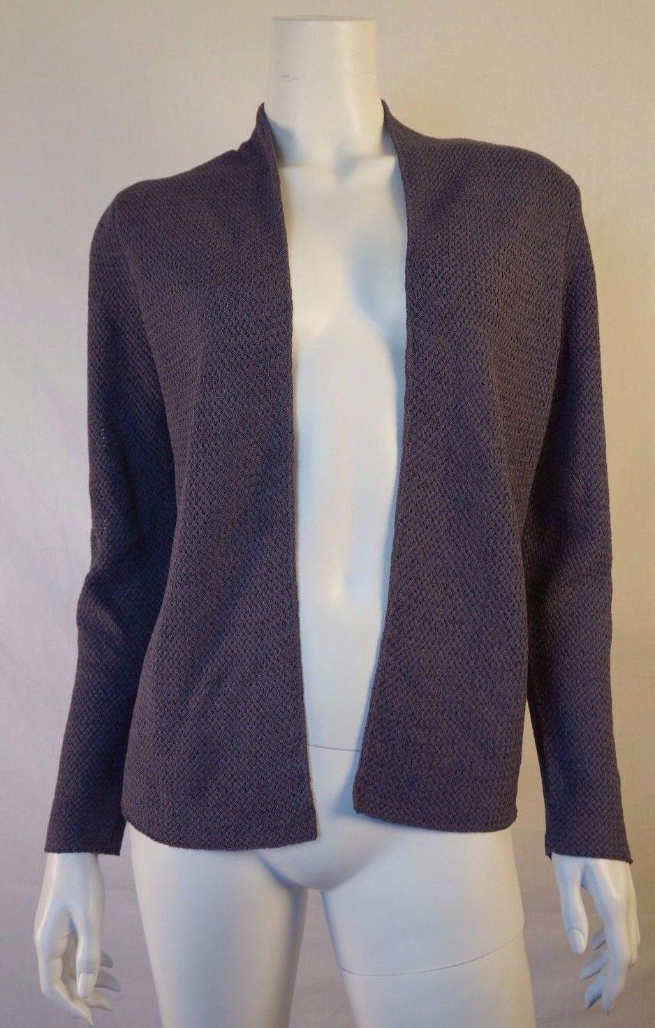 89ec350555a EILEEN FISHER Purple Knit Open Front Cardigan Sweater M sz  ozdoxl4251-Sweaters