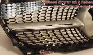 CHROM-Aufkleber-Folien-Sticker-fuer-Mercedes-CLA-W117-AMG-Urban-Diamantgrill