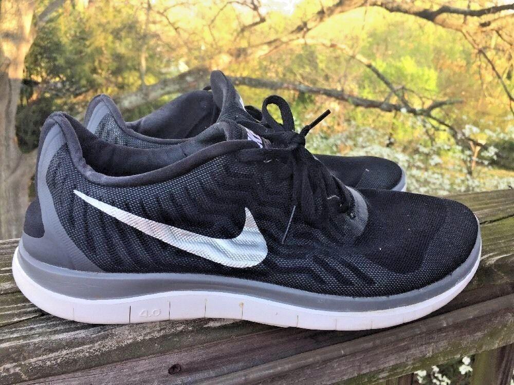 NIKE Walking FREE 4.0 FlyKnit Gray White Black Running Athletic Walking NIKE Mens Shoes Sz 11 f2ec4c