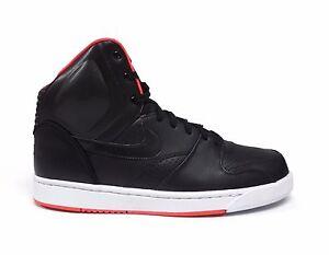 53b0e7ef9 Nike Men s RT REVOLUTION TRAINER 1 HIGH Shoes Black University Red ...