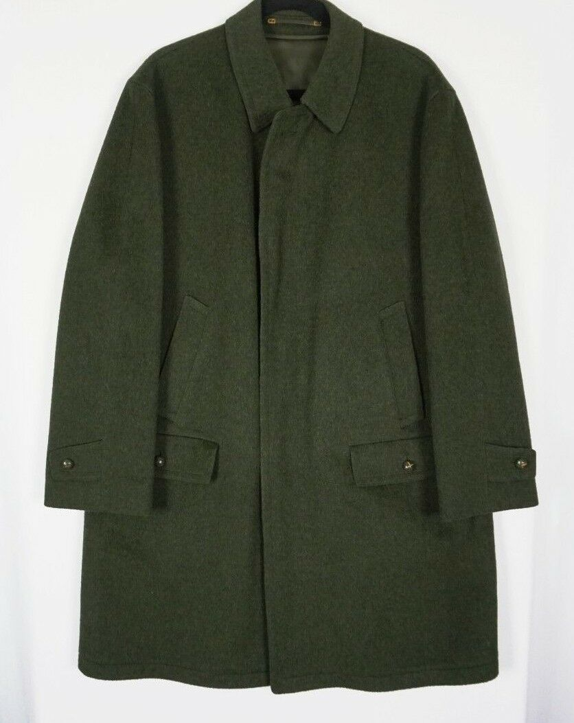 Lodenfrey herren Dark Grün wolleOvercoat Dress Coat wolleLined Sz 52