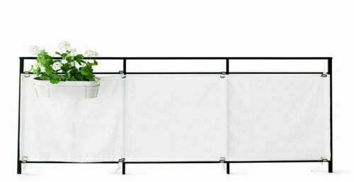 Wondrous Ikea Dyning White Balcony Privacy Screen Outdoor Shade Sun Wind Shield 98X32 Bralicious Painted Fabric Chair Ideas Braliciousco