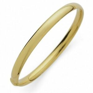 954d2c68c1631 Details about New 9 Ct Gold Filled Classic Round Plain Bangle 65 MM 70MM B7  B8