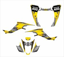 Suzuki LTZ400 KFX 400 graphics 2003-2008 custom decal kit NO3737-YELLOW