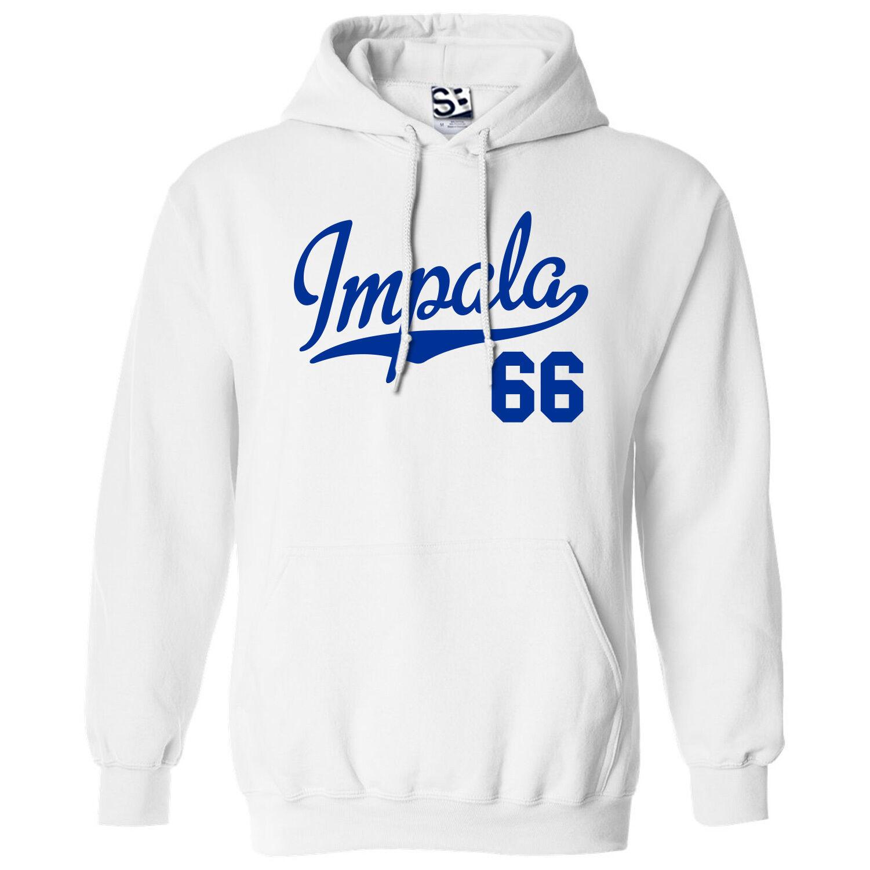 Impala 66 Script & Tail HOODIE - Hooded 1966 Niedrigrider Sweatshirt - All Farbes