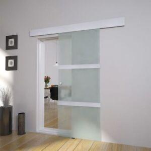 xxl glast r schiebet r glasschiebet r zimmert r satiniert aus glas 2050x750mm de ebay. Black Bedroom Furniture Sets. Home Design Ideas