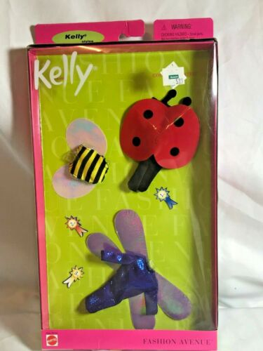 A042 New 1999 Barbie Fashion Avenue Kelly Costume Contest Ladybug Bee Dragonfly
