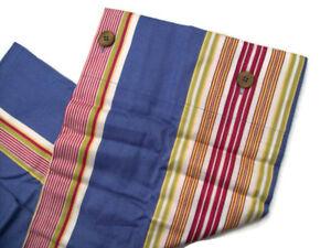 Pottery Barn Blue Multi Colors French Stripe Euro Pillow