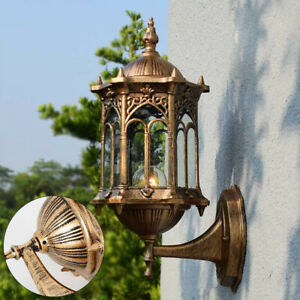 Retro Exterior Wall Sconce Light Fixture Aluminum Vintage Lantern Lamp Outdoor Outdoor Lighting Edemia Home Garden