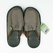 Sanuk Men's You Got My Back II Loafer Slip On Sandals Boat Shoes Army Green US7