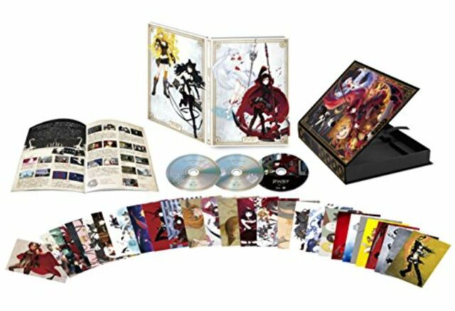 RWBY Vol1. First Limited Blu-ray CD Booklet cards New Japan F/S w/Tracking