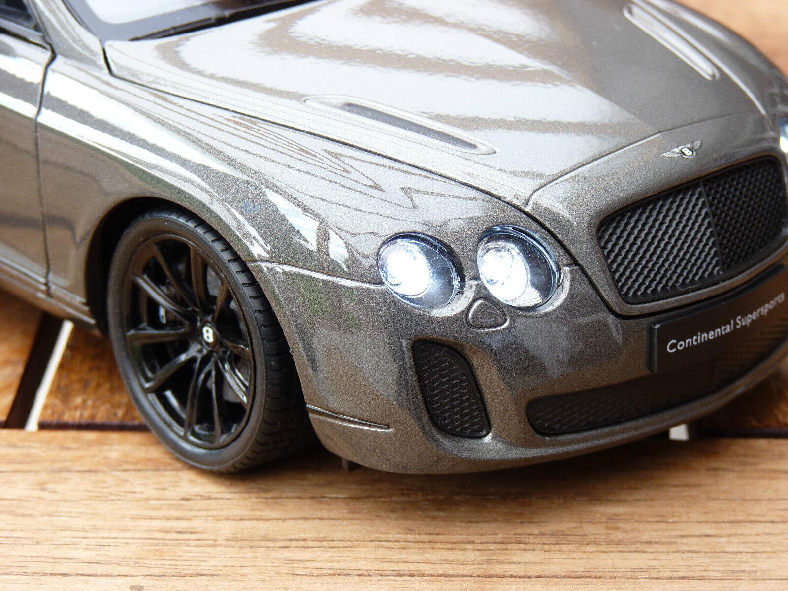 Bentley Continental Super puertos con iluminación LED (Xenon) en 1 18 gris Tuning
