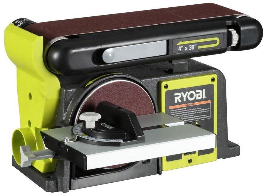 beb475260e Ryobi Electric 120 Volt Corded Green Bench Sander Belt Tool Bd4601g