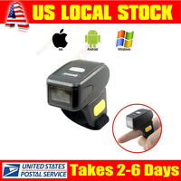 Wearable 1d Ring Type Bluetooth Laser Barcode Scanner Data Reader Andriod/ios