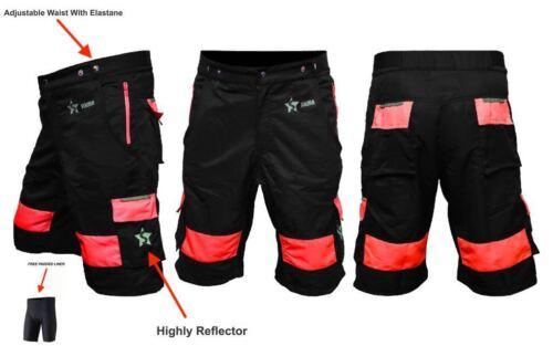Men/'s Cycling MTB court Off Road haute qualité rembourré Liner Baggy VTT Shorts