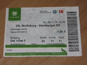 Ticket-Wolfsburg-Hamburg-Hamburger-09-11-2014