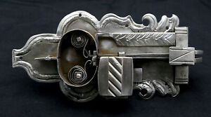 Original-Antique-Cabinet-Lock-Federschlos-Baroque-Without-Key-Made-of-Iron