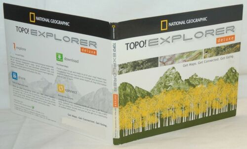 Explorer Deluxe MAPS Software TomTom Garmin Triton NEW National Geographic TOPO