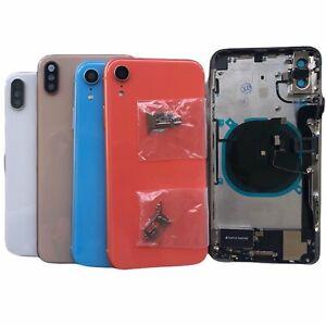 Nueva-Funda-Carcasa-De-Vidrio-Trasero-Conjunto-de-marco-para-iPhone-8-XS-Max-XR-11-Plus-X-Pro