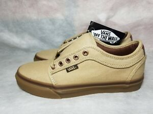 4a350eebf5 New Vans Chukka Low Pro Gum Brown Canvas Leather Ultra Cush Skate ...