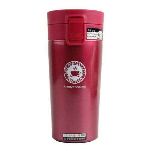 Insulated Travel Coffee Mug Cup Thermal Stainless Steel Flask Vacuum Leakproof