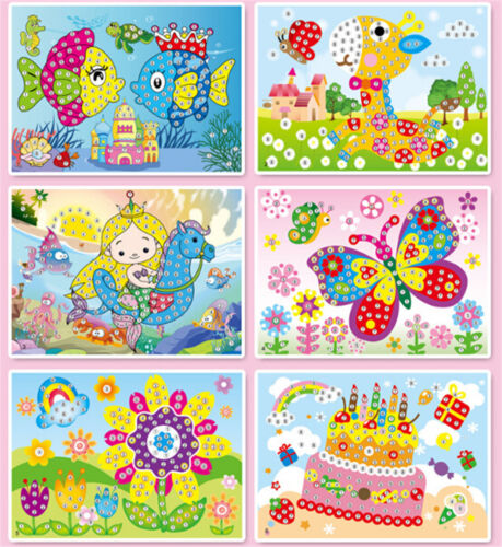 5D Diamond Embroidery Kids Painting Kit Mosaic LearningPuzzles Cartoons DIY WD